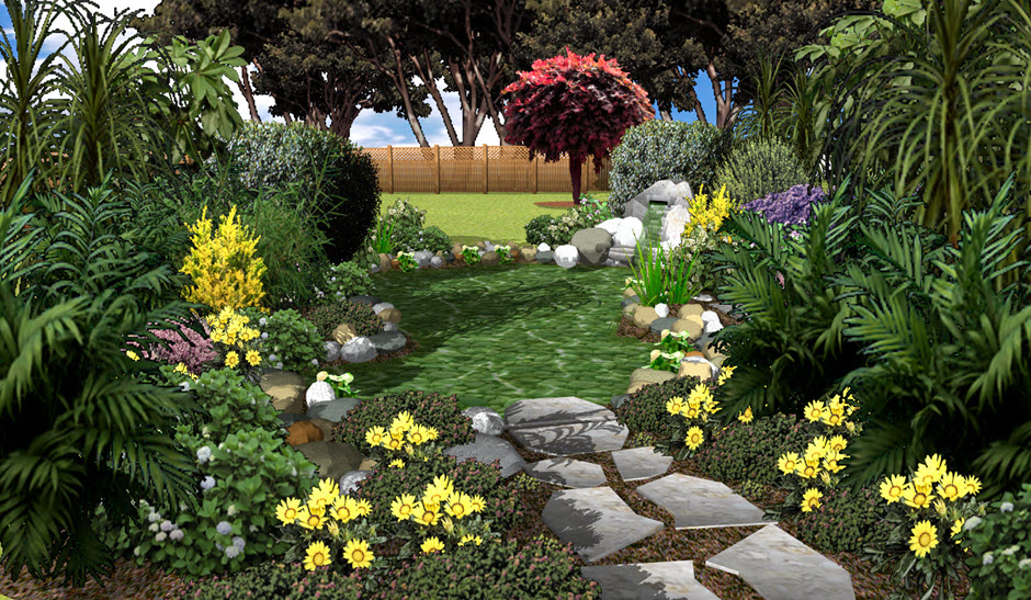 Architect 3d garden edition 3d home building software for Garden design 3d mac